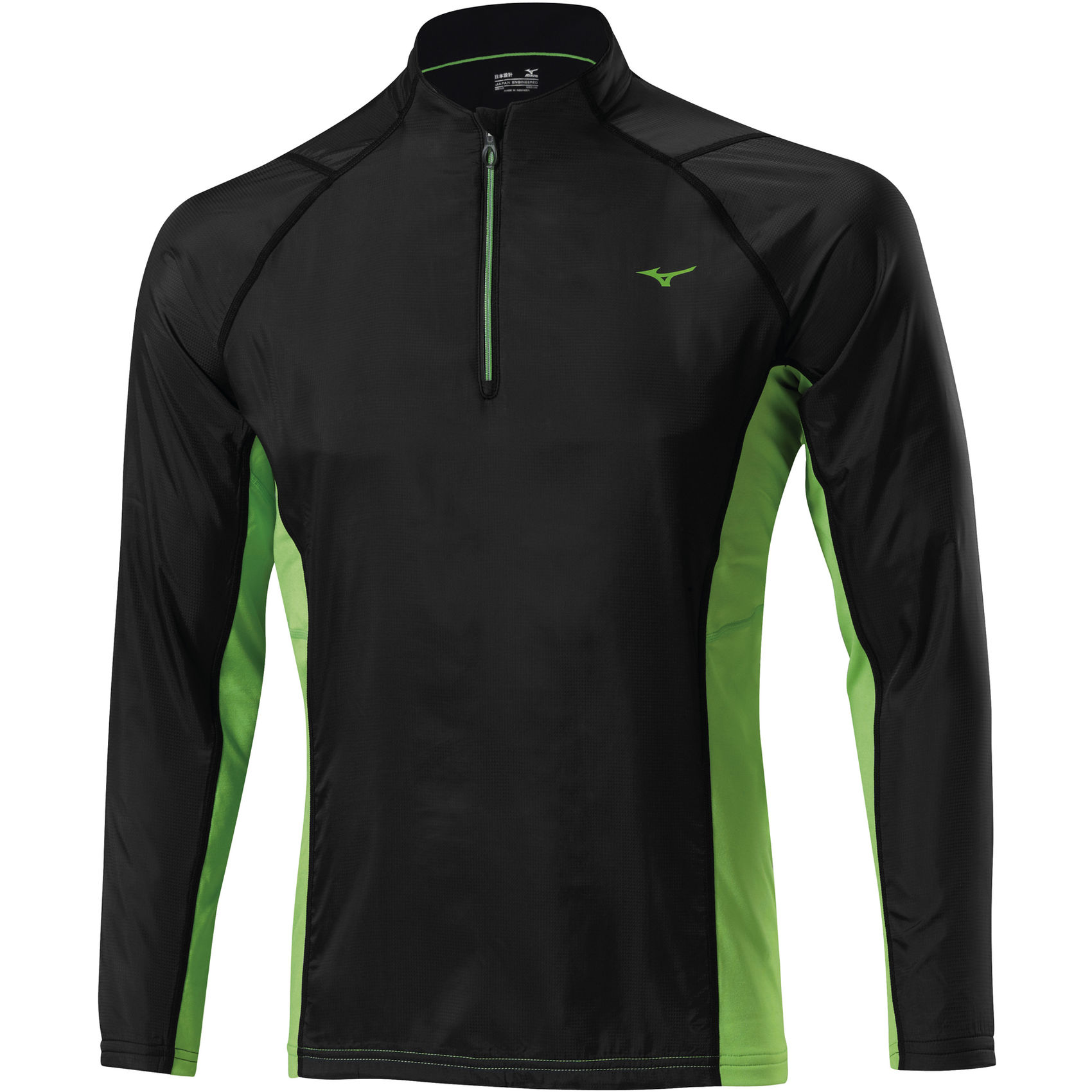 Mizuno-Breath-Thermo-WindTop-AW14-Running-Windproof-Jackets-Black-Green-AW14-J2GC450493-0